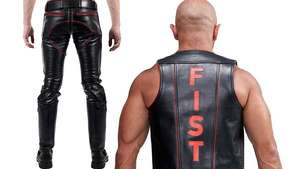 Let's dress in leather for the next fisting session